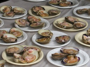 Clams on Half Shell